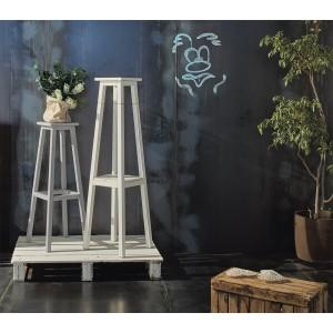 Porta vasi colonna in legno