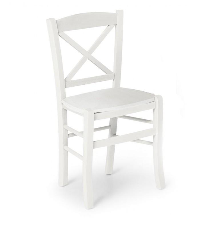 Sedie In Legno Laccate Bianco.Sedia Sara L Laccata Bianco