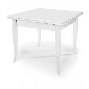 Tavolo Bianco 80x80 Allungabile.Tavolo Quadrato Scicli Q In Legno Laccato Bianco
