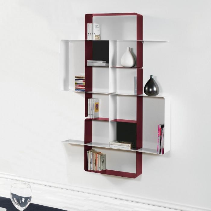 Libreria Verticale In Metallo.Libreria Pensile In Metallo Composizione 4 Scopri Le Altre