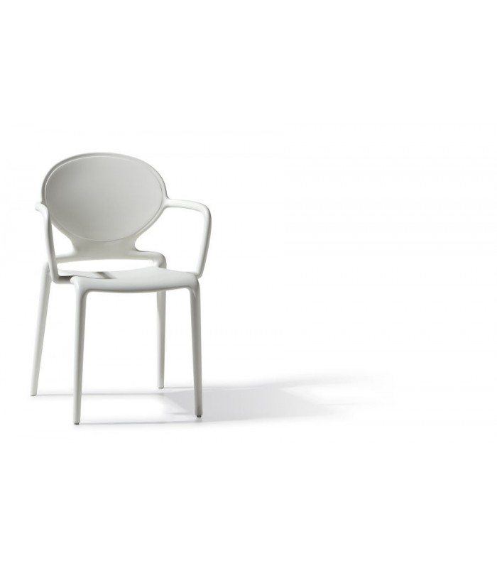 Materasso Top Air Silver.Gio Chair With Armrests In Technopolymer Reinforced With Glass