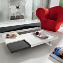 ERICA GLOSSY WHITE SIDE TABLE
