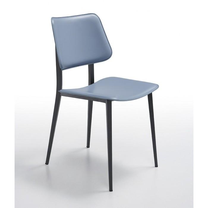 Sedie Metallo E Cuoio.Joe M Cu Sedia Moderna Con Struttura In Metallo E Sedile Piu