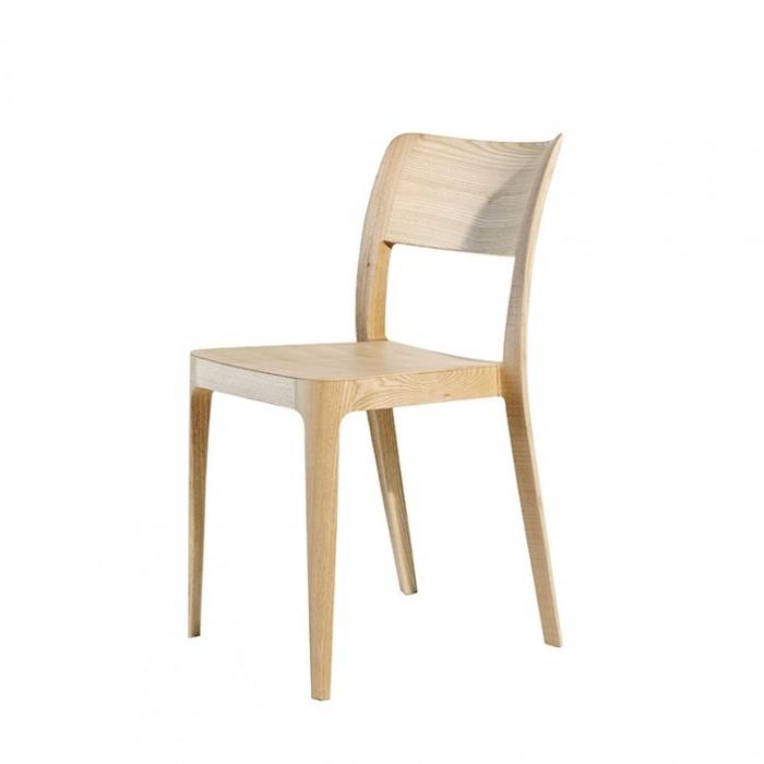 Sedie In Legno Prezzi.Nene Lg Sedia Impilabile In Legno Con Finitura Rovere Naturale E