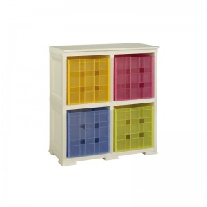 SHELF WITH 4 CUBES STORAGE
