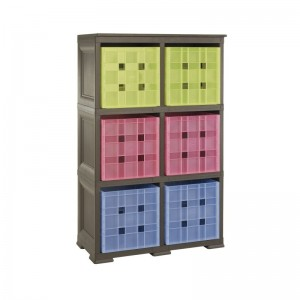SHELF WITH 6 CUBES STORAGE