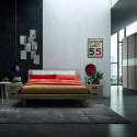 Vela bed whit upholstered panel