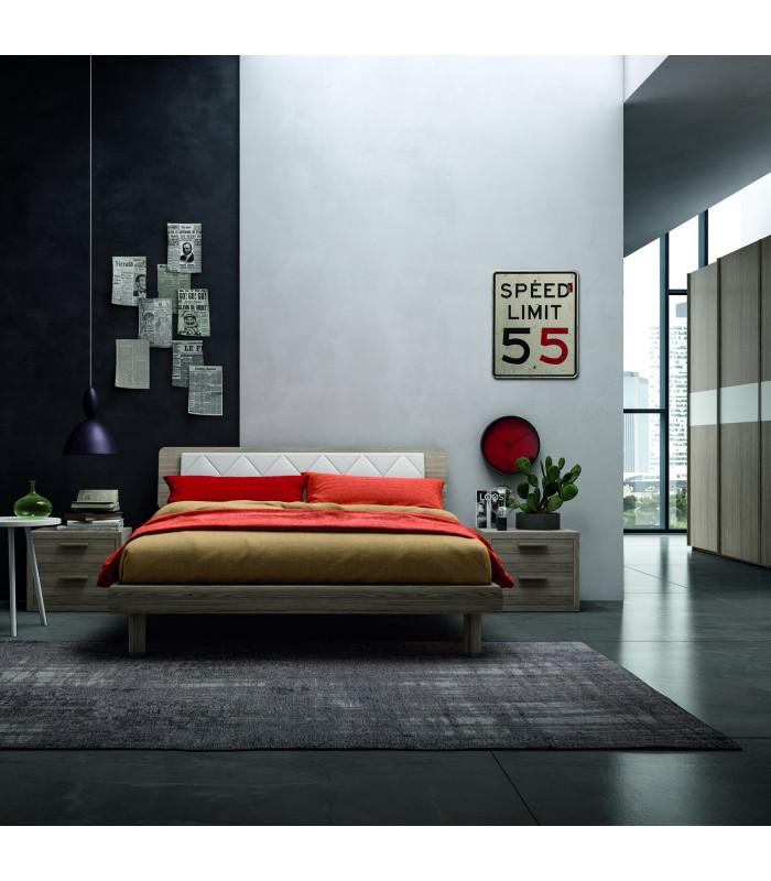 Vela bed whit upholstered...