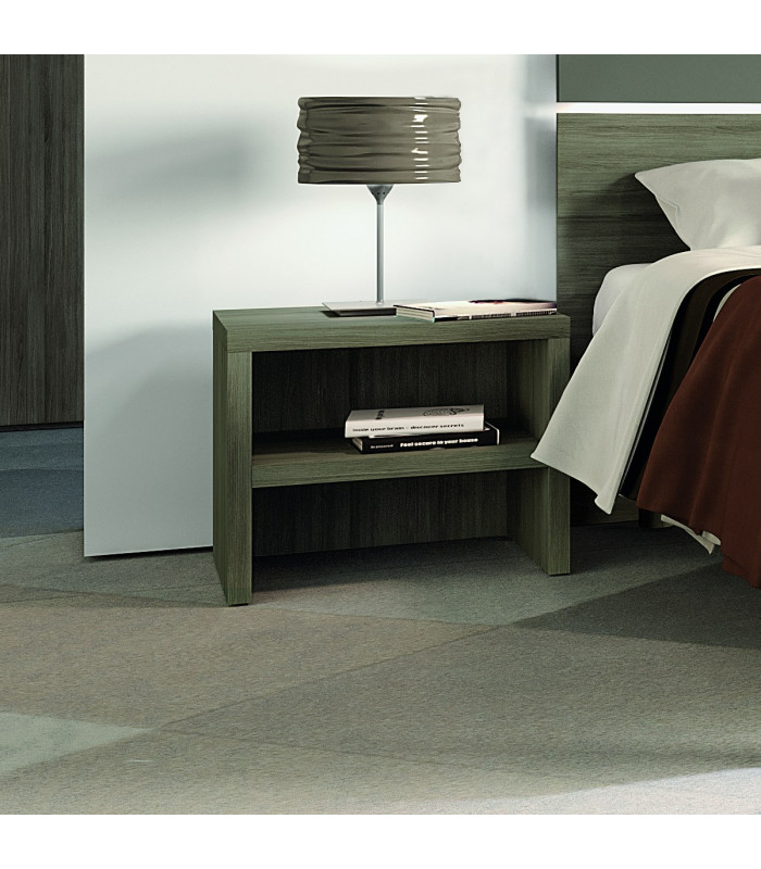 Open-fronted bedside table...