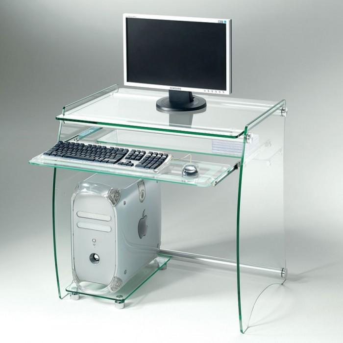 Mobili Porta Computer Prezzo.Clear Mobile Porta Pc Con Porta Tastiera Estraibile In Alluminio
