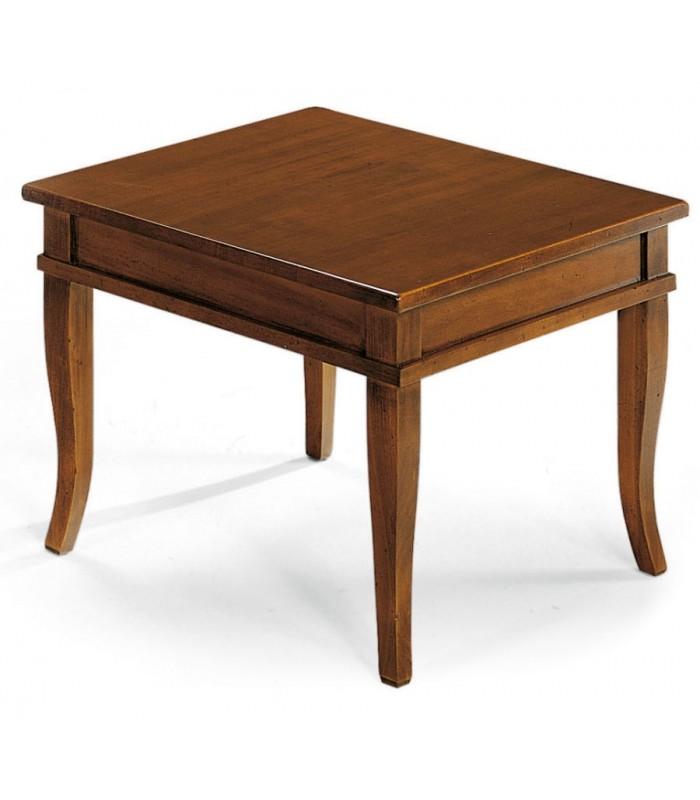 Tavolino Salotto In Noce.Tavolino Elizabeth 2 Noce Quadrato Con Contenitore