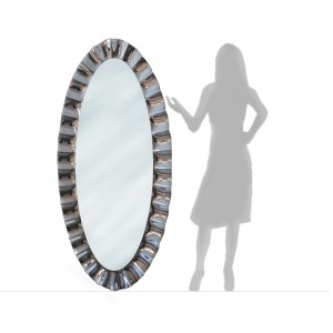 GLASS OVAL MIRROR