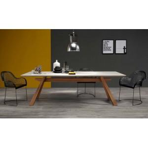 ZEUS TABLE WITH CERAMIC TOP