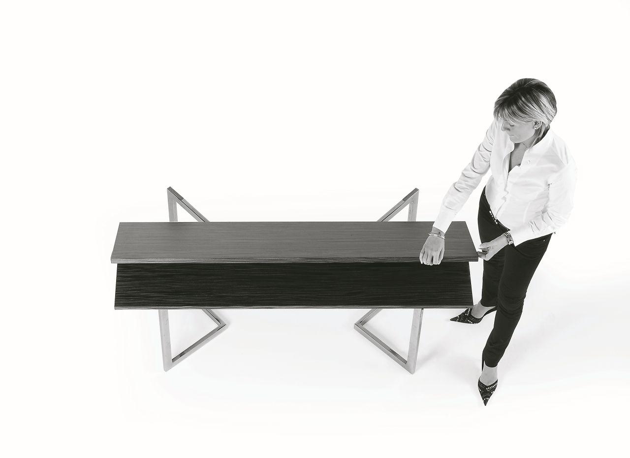 Tavolo Consolle Giravolta.Consolle Giravolta Con Basamento In Metallo E Piano