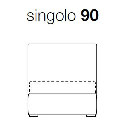 Wide Single (bed base w. 90 cm.)